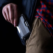 Dango A10 Adapt Wallet (Jet Black) - In Use