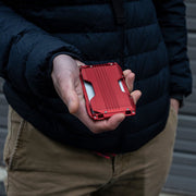 Dango A10 Adapt Wallet (Crimson Red) - In Use
