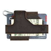 Trayvax Contour Wallet (Raw Metal/Mississippi Mud Leather) - Back View