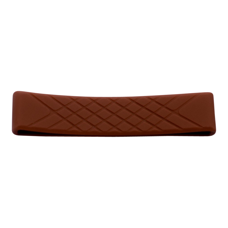 Dango Silicone Wallet Band (Brown) - Front View