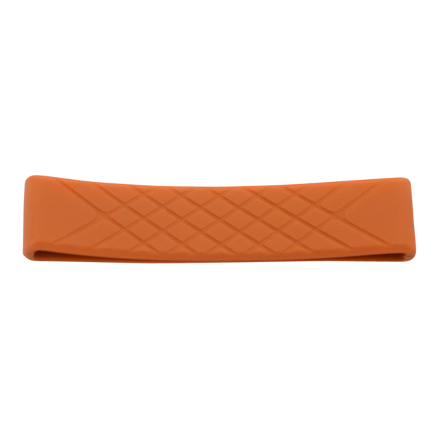 Dango Silicone Wallet Band (Bright Orange) - Front View