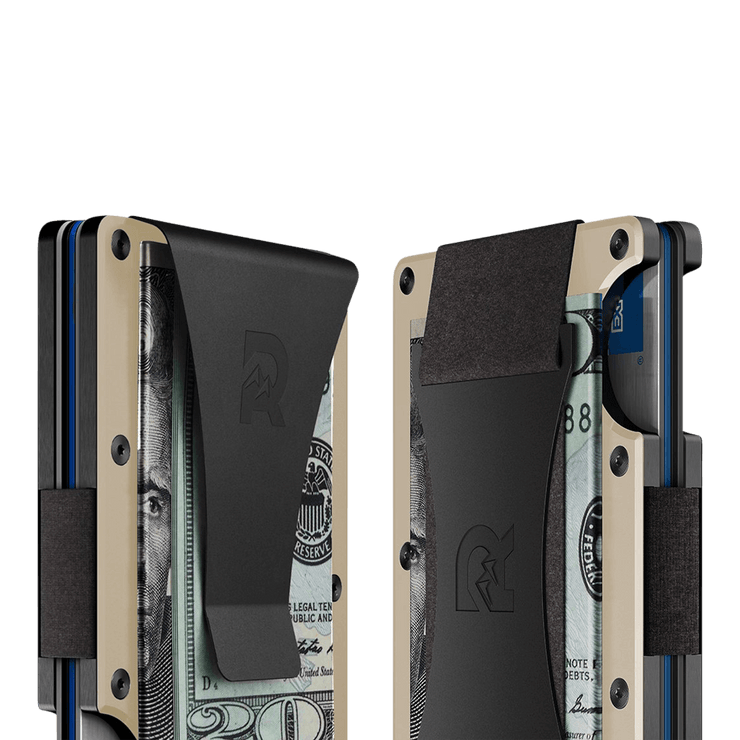 The Ridge Aluminium Cash Strap Wallet (Desert Tan) - Cash Strap & Money Clip