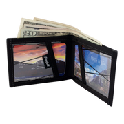 Flowfold Recycled Sailcloth Vanguard Billfold Wallet (Black Pearl) - Cash & Card