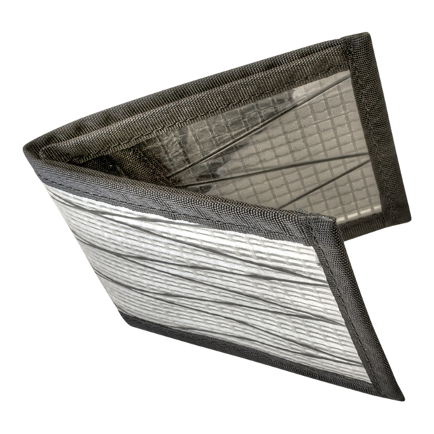Flowfold Recycled Sailcloth Vanguard Billfold Wallet (White) - Open View