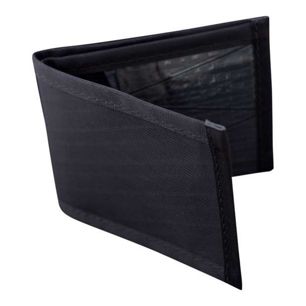 Flowfold Vanguard Limited Billfold Wallet (Jet Black) - Open View