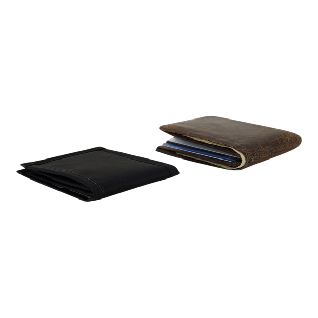 Flowfold Vanguard Limited Billfold Wallet (Jet Black) - Slim Profile