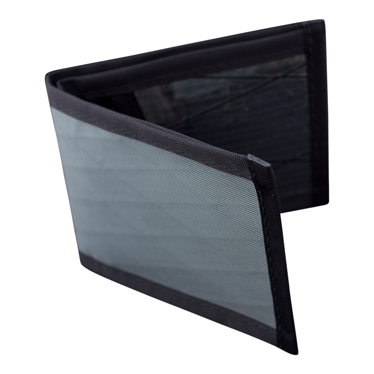 Flowfold Vanguard Limited Billfold Wallet (Slate Grey) - Open View