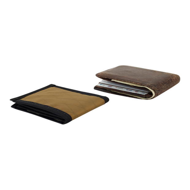 Flowfold Vanguard Limited Billfold Wallet (Coyote Brown) - Slim Profile