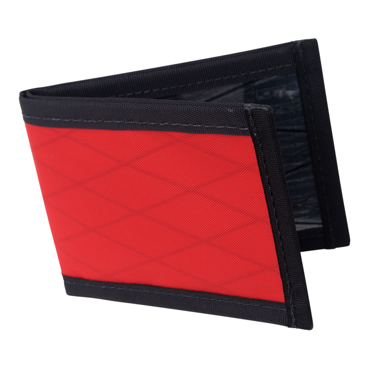 Flowfold Vanguard Limited Billfold Wallet (Bicycle Red) - Open View