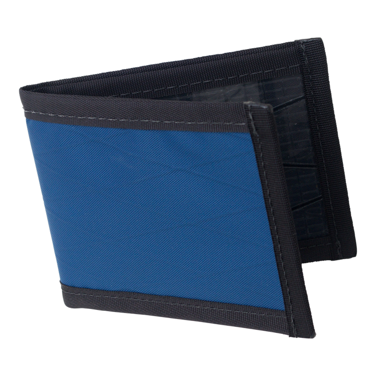 Flowfold Vanguard Limited Billfold Wallet (Navy Blue) - Open View