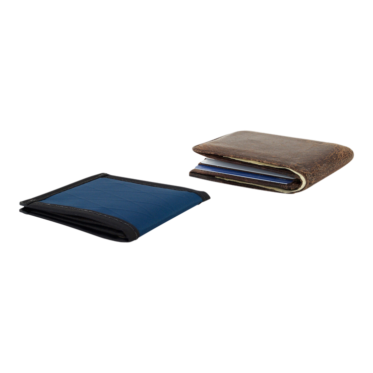 Flowfold Vanguard Limited Billfold Wallet (Navy Blue) - Slim Profile