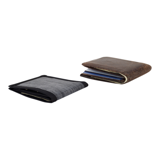 Flowfold Vanguard Limited Billfold Wallet (Heather Grey) - Slim Profile