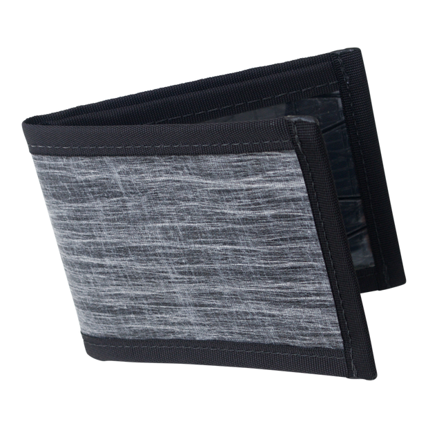 Flowfold Vanguard Limited Billfold Wallet (Heather Grey) - Open View