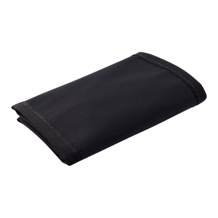 Flowfold Traveler Limited Trifold Wallet (Jet Black) - Closed View
