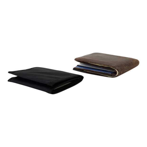 Flowfold Traveler Limited Trifold Wallet (Jet Black) - Slim Profile