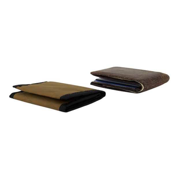 Flowfold Traveler Limited Trifold Wallet (Coyote Brown) - Slim Profile