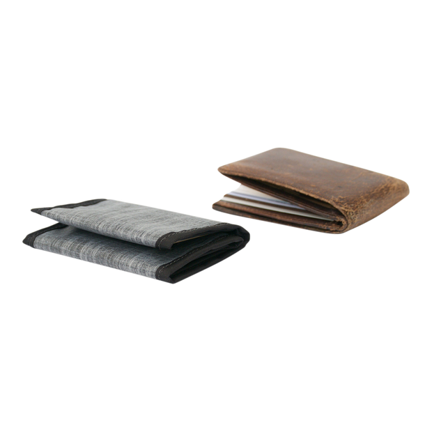 Flowfold Traveler Limited Trifold Wallet (Heather Grey) - Slim Profile