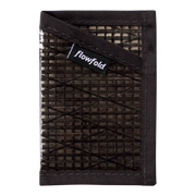 Flowfold Recycled Sailcloth Minimalist Wallet (Black Pearl) - Front View