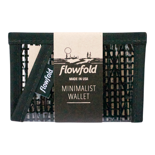 Flowfold Recycled Sailcloth Minimalist Wallet (Black Pearl) - Packaging