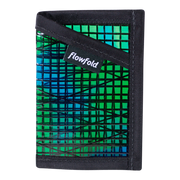 Flowfold Recycled Sailcloth Minimalist Wallet (Green) - Front View