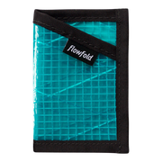 Flowfold Recycled Sailcloth Minimalist Wallet (Cyan) - Front View