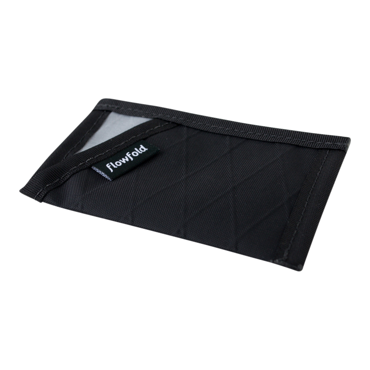 Flowfold Minimalist Limited Wallet (Jet Black) - Slim Profile