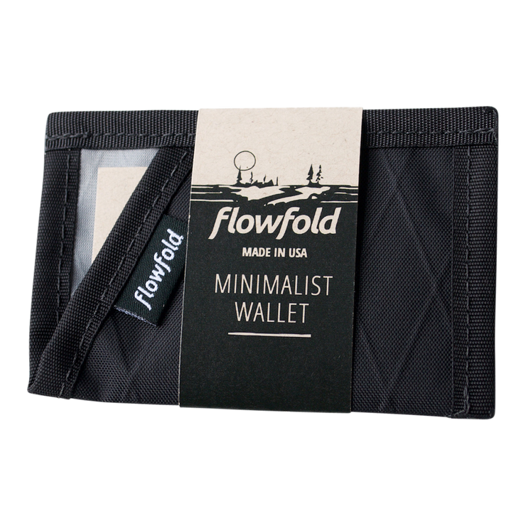 Flowfold Minimalist Limited Wallet (Jet Black) - Packaging