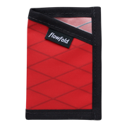 Flowfold Minimalist Limited Wallet (Bicycle Red) - Front View
