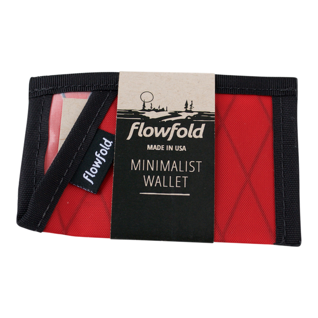 Flowfold Minimalist Limited Wallet (Bicycle Red) - Packaging