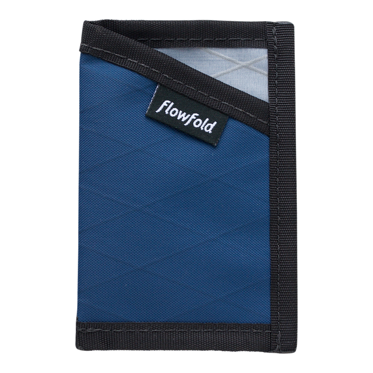 Flowfold Minimalist Limited Wallet (Navy Blue) - Front View