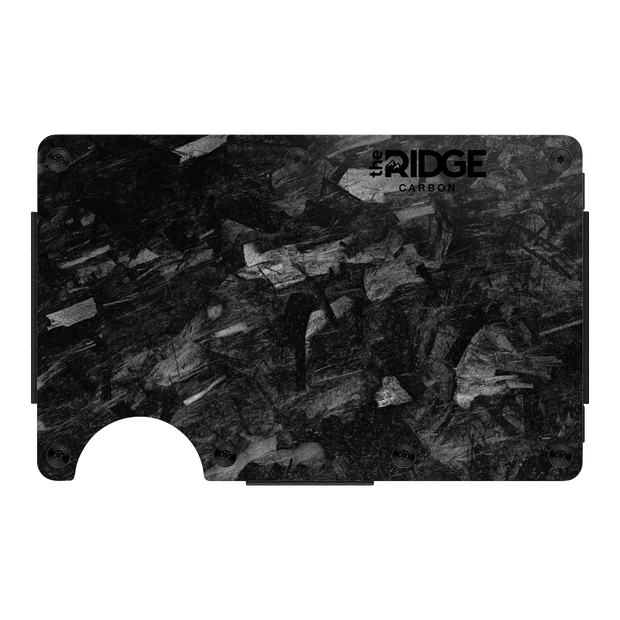 The Ridge Forged Carbon Money Clip Wallet - Front View