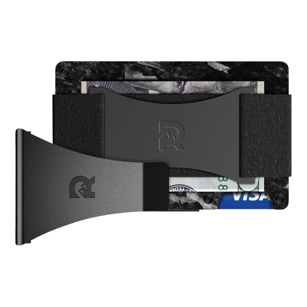 The Ridge Forged Carbon Cash Strap & Money Clip Wallet - Bundle View