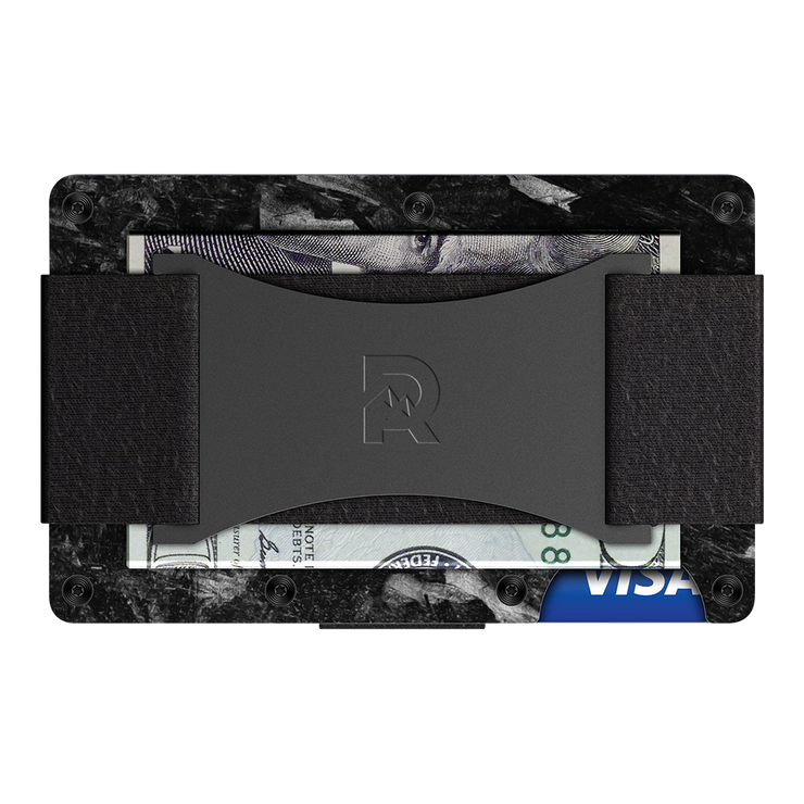 The Ridge Forged Carbon Cash Strap & Money Clip Wallet - Cash Strap Back View