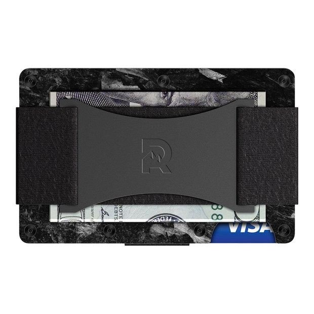 The Ridge Forged Carbon Cash Strap Wallet - Back View