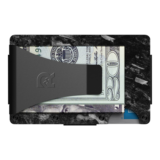 The Ridge Forged Carbon Cash Strap & Money Clip Wallet - Money Clip Back View