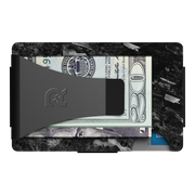 The Ridge Forged Carbon Money Clip Wallet - Back View