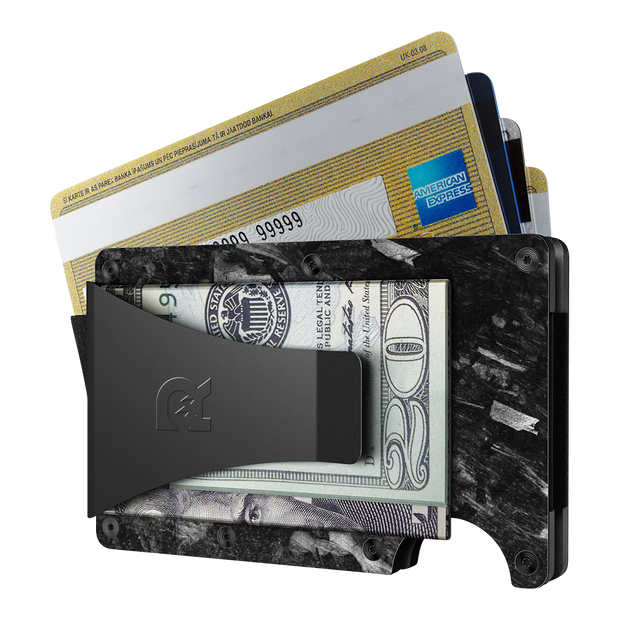 The Ridge Forged Carbon Cash Strap & Money Clip Wallet - Money Clip