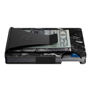 The Ridge Forged Carbon Cash Strap & Money Clip Wallet - Money Clip Side View
