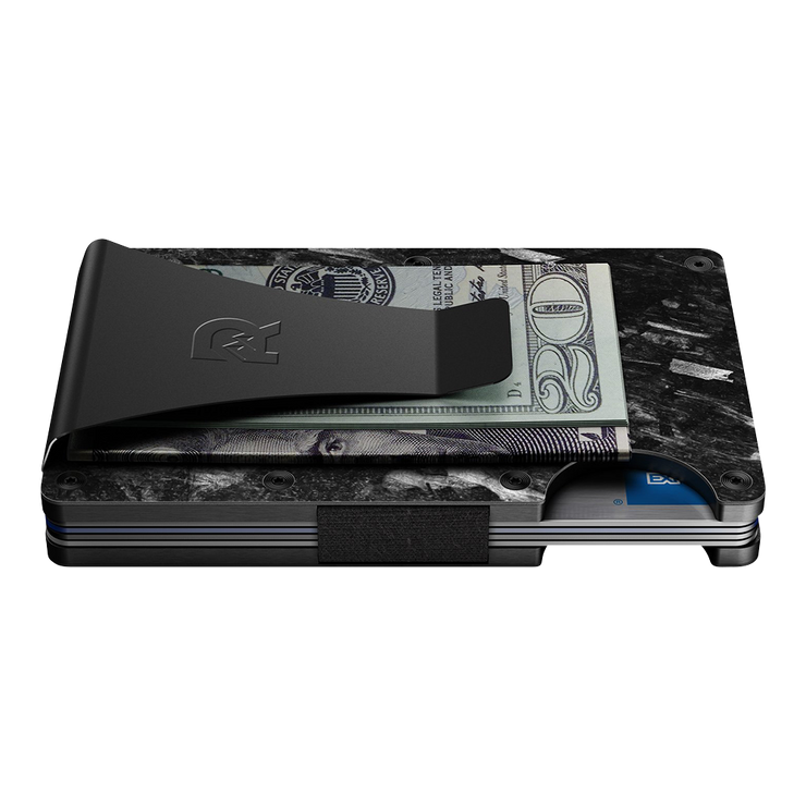 The Ridge Forged Carbon Money Clip Wallet - Side View