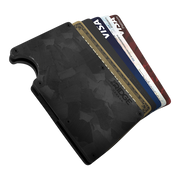 The Ridge Forged Carbon Cash Strap Wallet - Cards Fanned