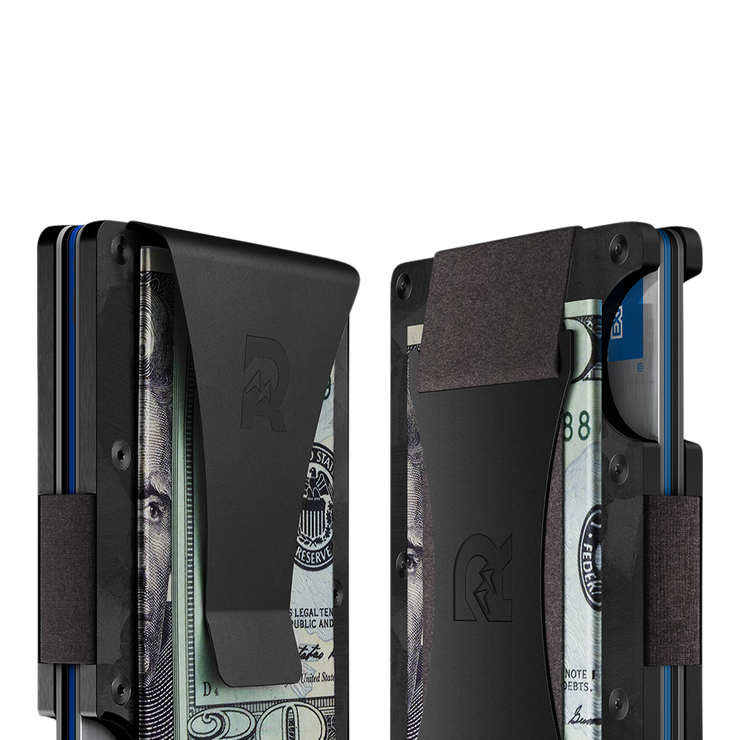 The Ridge Forged Carbon Money Clip Wallet - Cash Strap & Money Clip