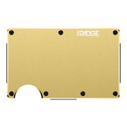 The Ridge Aluminium Money Clip Wallet (Gold) - Front View