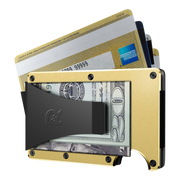 The Ridge Aluminium Money Clip Wallet (Gold) - Money Clip