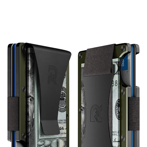 The Ridge Aluminium Cash Strap Wallet (OD Green) - Cash Strap & Money Clip