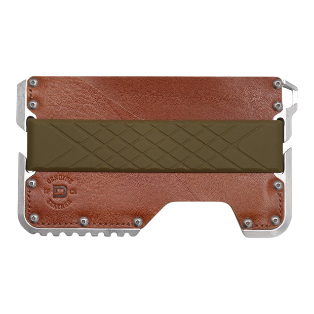 Dango Silicone Wallet Band (OD Green) - Wallet View