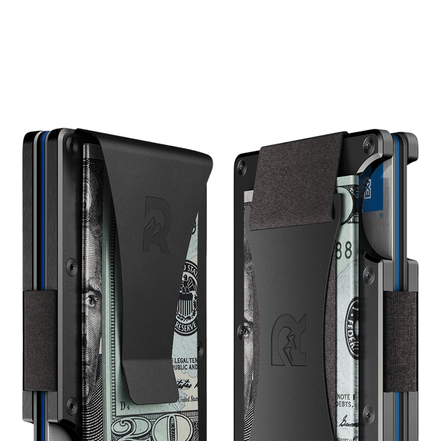 The Ridge Aluminium Cash Strap Wallet (Gunmetal) - Cash Strap & Money Clip