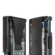 The Ridge Aluminium Money Clip Wallet (Gunmetal) - Cash Strap & Money Clip