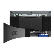 The Ridge Aluminium Cash Strap & Money Clip Wallet (Gunmetal) - Bundle View