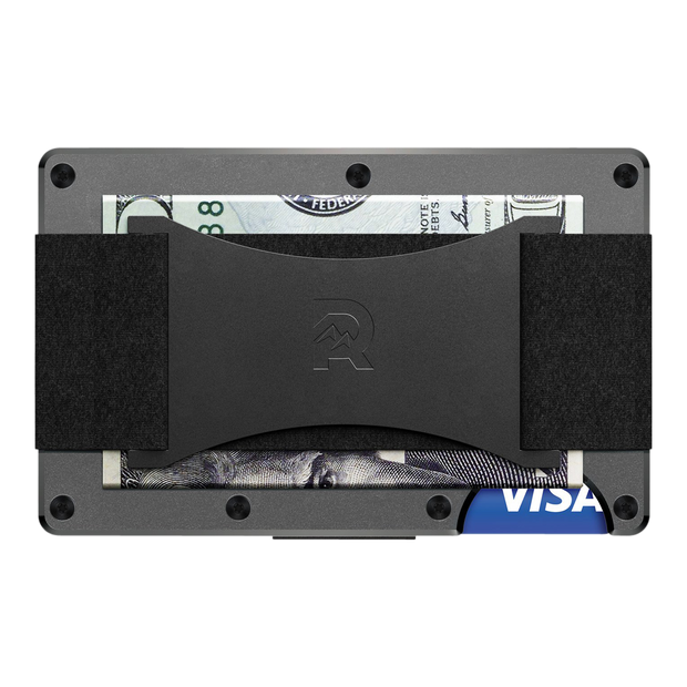The Ridge Aluminium Cash Strap & Money Clip Wallet (Gunmetal) - Cash Strap Back View