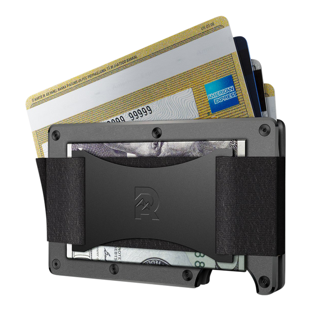 The Ridge Aluminium Cash Strap & Money Clip Wallet (Gunmetal) - Cash Strap